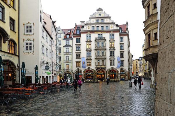 Мюнхен под дождем.