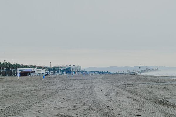 Валенсия. Январь. Пляж.