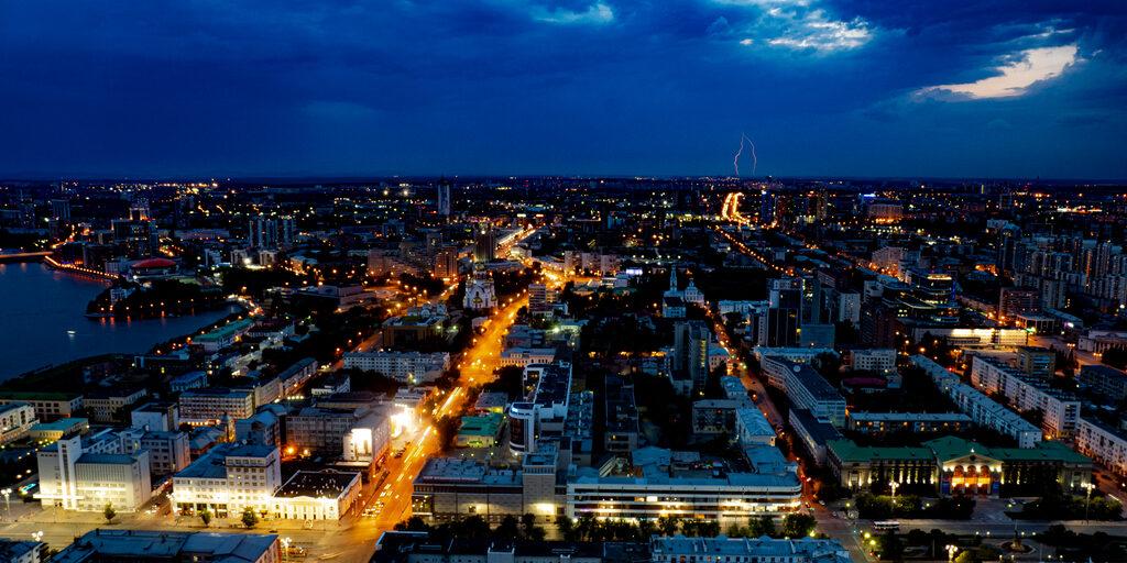 Гроза в Екатеринбурге.